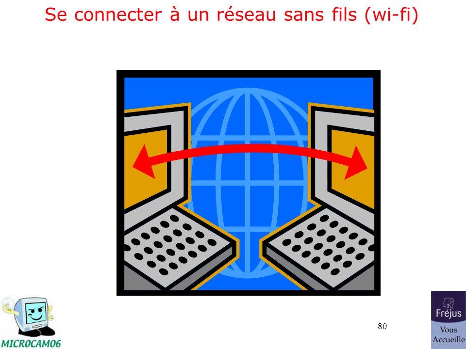 80 Se connecter à un réseau sans fils (wi-fi)