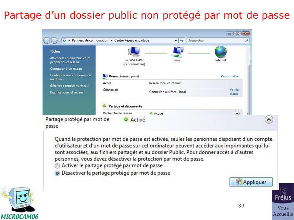 89 Partage dun dossier public non protégé par mot de passe