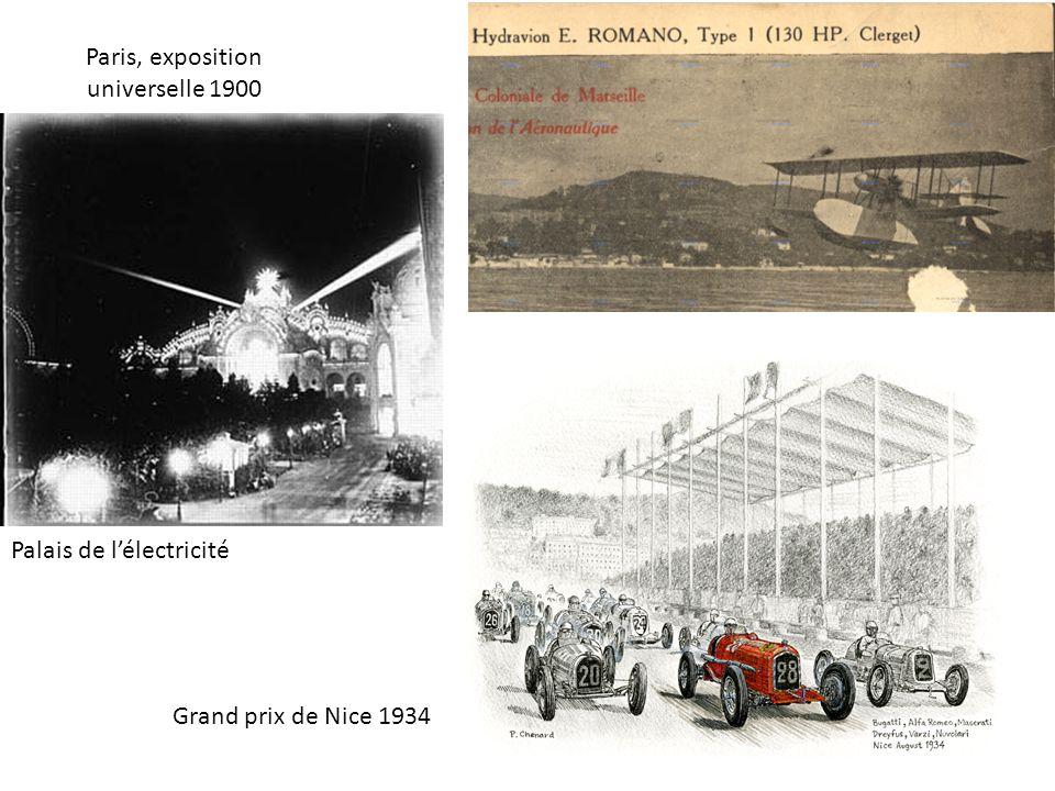 Paris, exposition universelle 1900 Palais de lélectricité Grand prix de Nice 1934