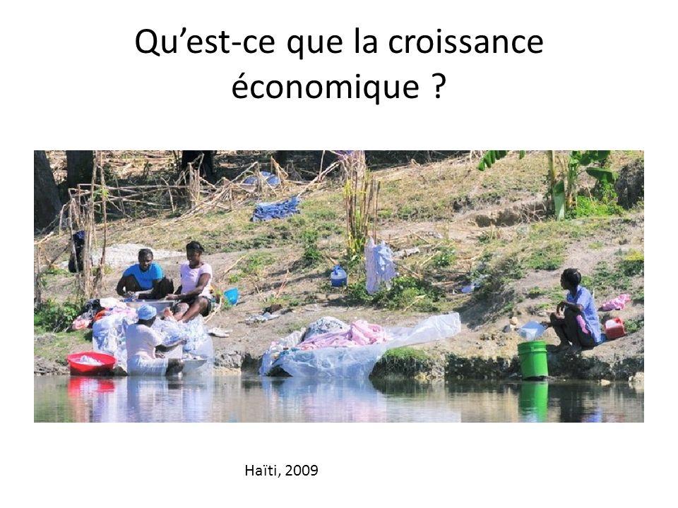 Quest-ce que la croissance économique ? Haïti, 2009