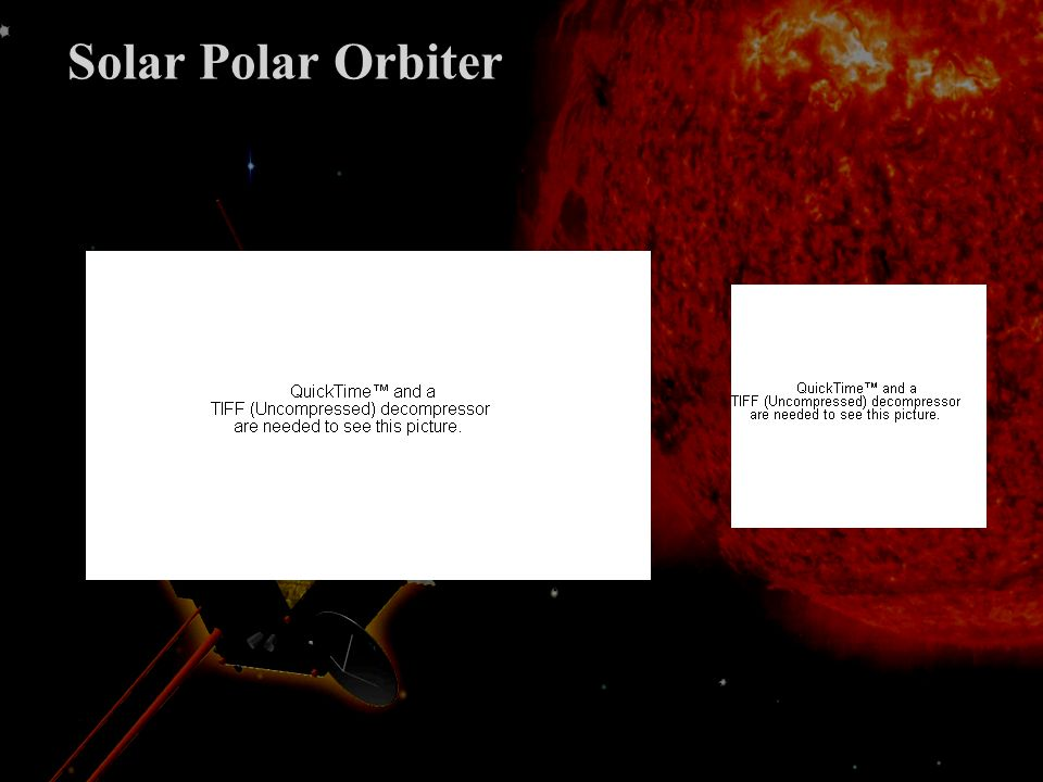Prospective Solar Orbiter est en danger Soutien ferme de Solar Orbiter par le PNST La physique solaire à lESA est en danger Dautre missions existent (NASA, IKI) Réponse nécessaire à CV sans mettre en danger Solar Orbiter