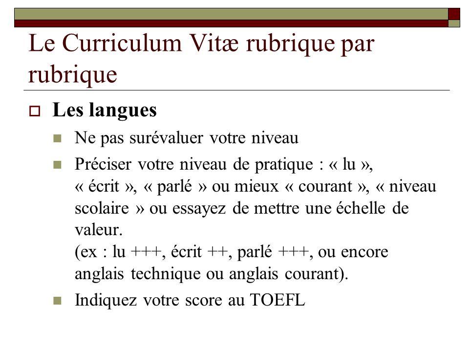 exemple de cv langues exemple cv rubrique langues   CV Anonyme exemple de cv langues