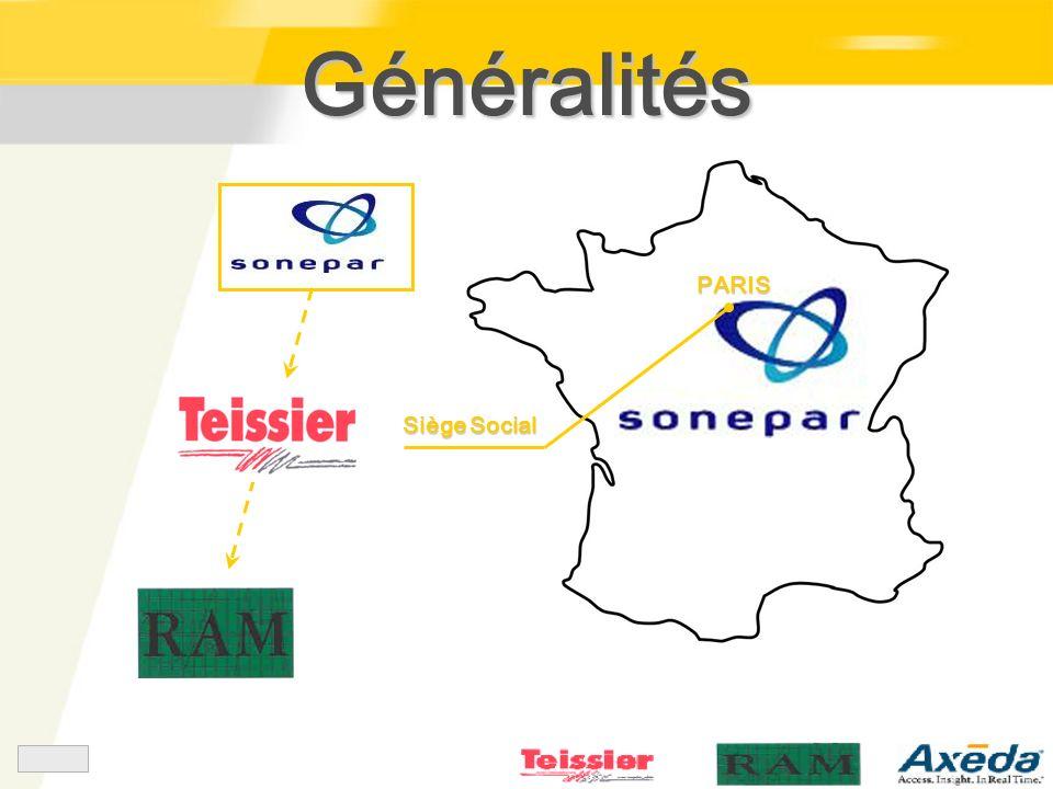 Généralités Siège Social PARIS