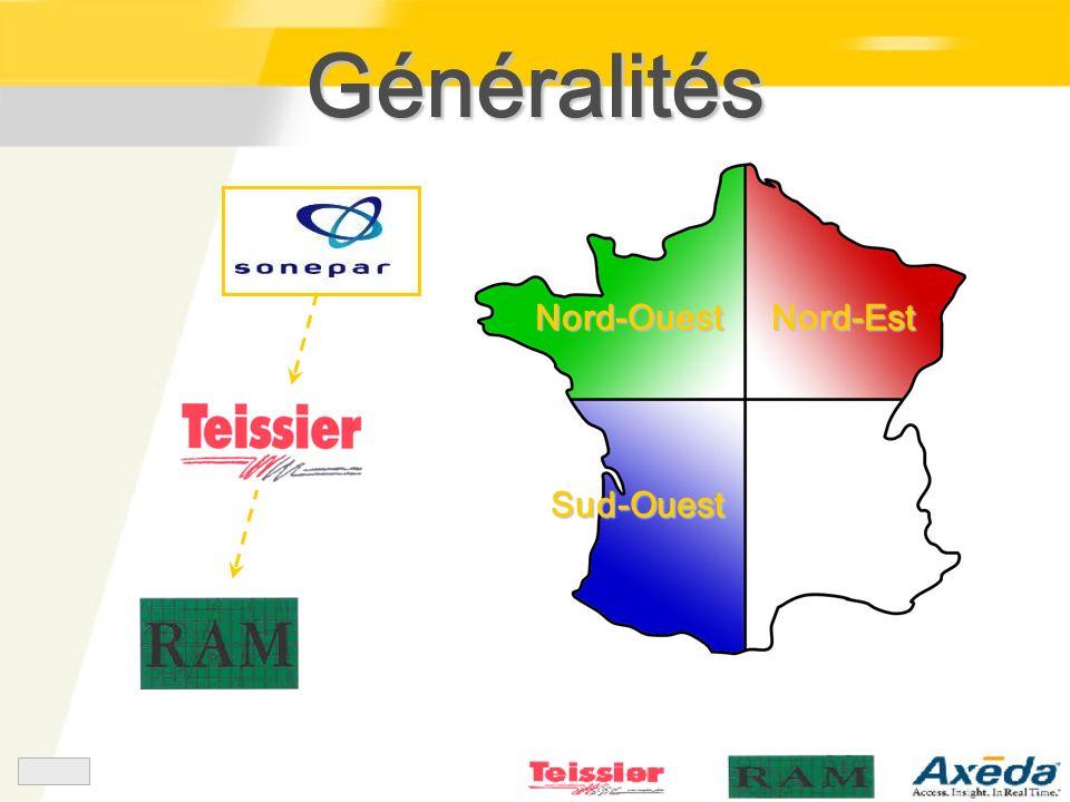 Généralités Nord-OuestNord-Est Sud-Ouest