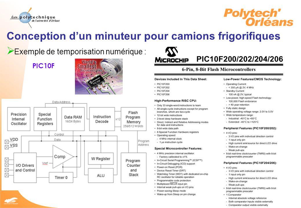 10 JY CADOREL 2005 Conception dun minuteur pour camions frigorifiques Quels critères pour faire le choix .