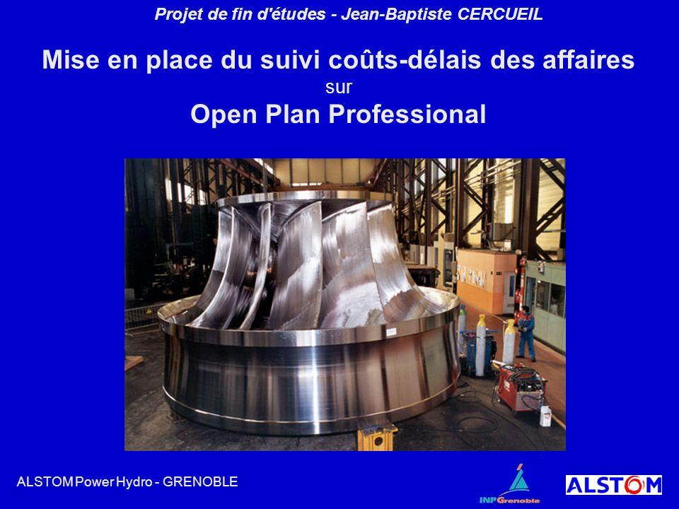 Projet de fin d'études - Jean-Baptiste CERCUEIL Mise en place du suivi coûts-délais des affaires sur Open Plan Professional ALSTOM Power Hydro - GRENO