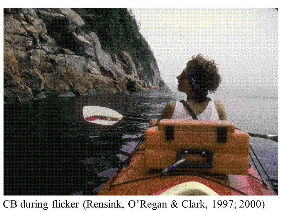 CB during flicker (Rensink, ORegan & Clark, 1997; 2000)