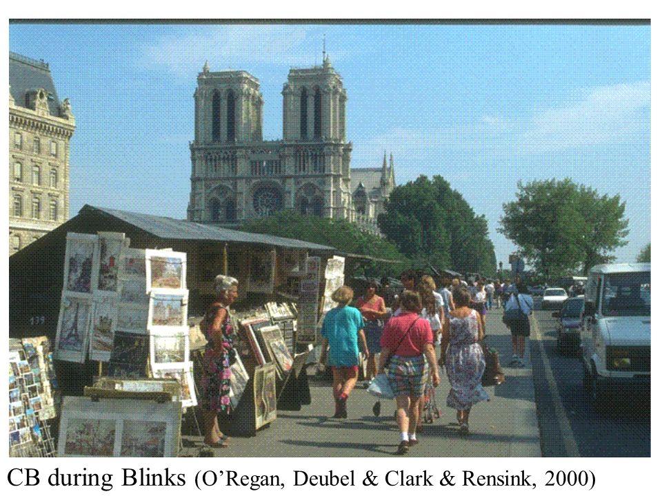 CB during Blinks (ORegan, Deubel & Clark & Rensink, 2000)