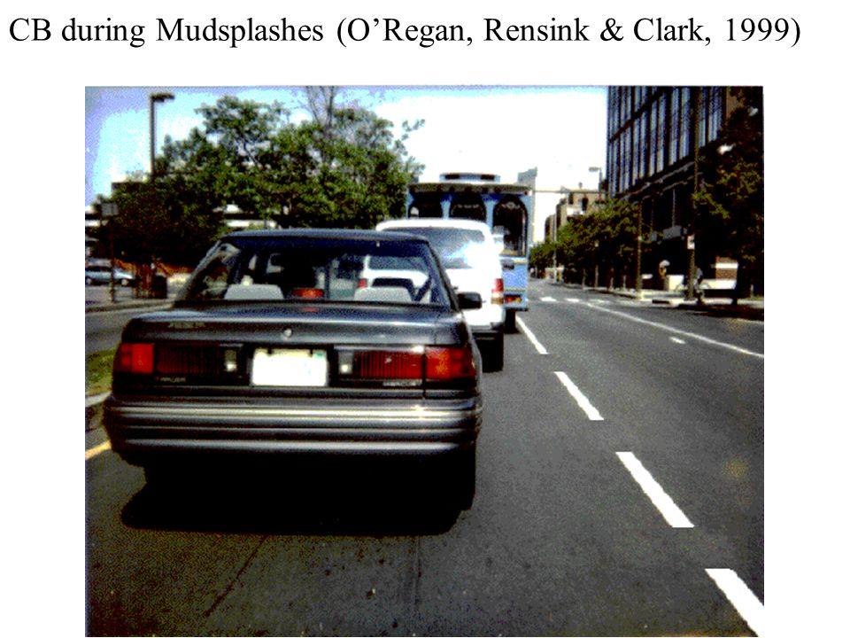 CB during Mudsplashes (ORegan, Rensink & Clark, 1999)