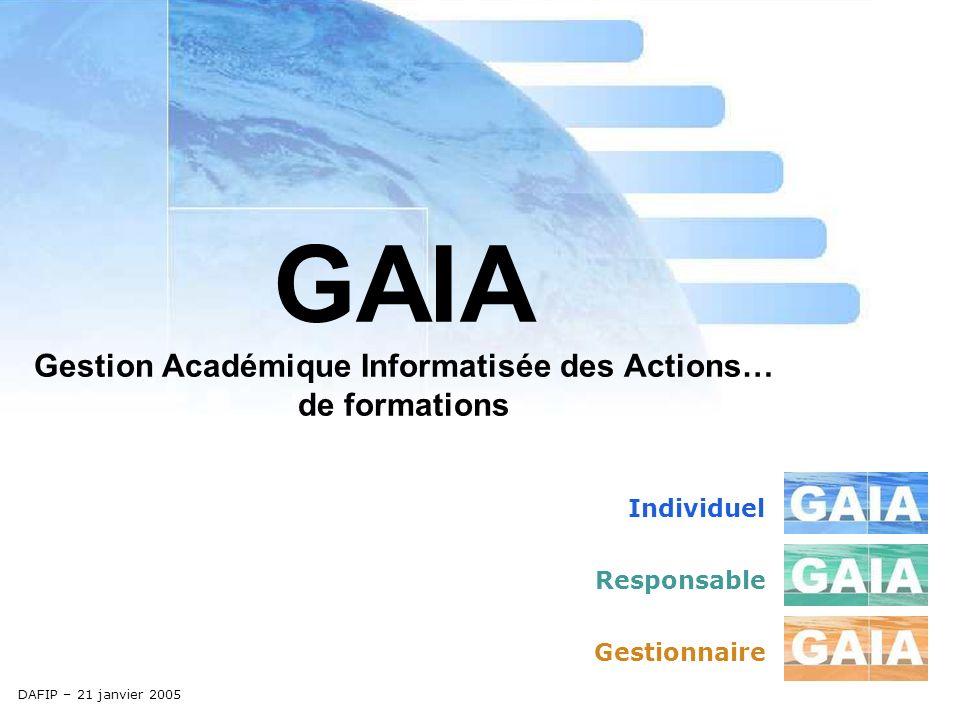 Entrée gestionnaire http://gaiagest.in.ac-aix-marseille.fr/gaiagest/ Création dun dispositif Champ obligatoire