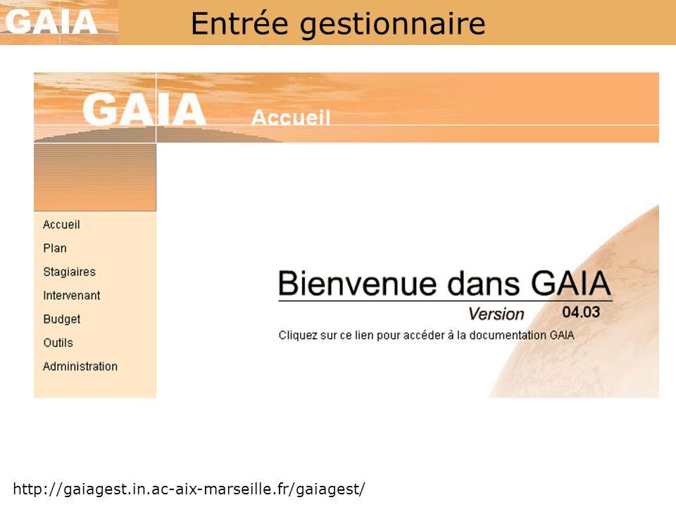 Entrée gestionnaire http://gaiagest.in.ac-aix-marseille.fr/gaiagest/