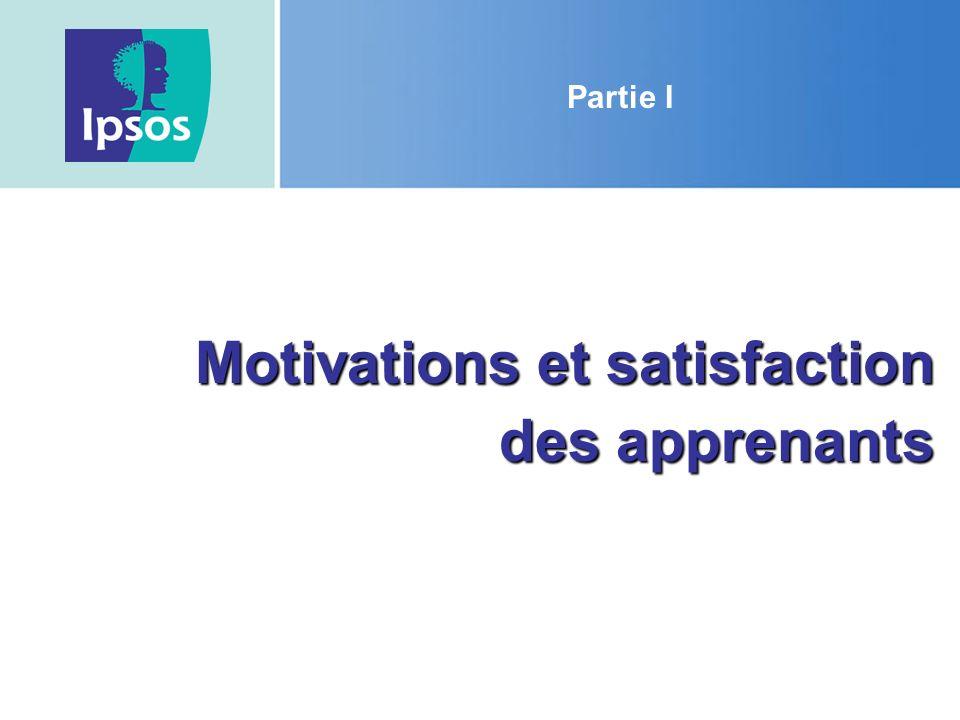 Motivations et satisfaction des apprenants Partie I