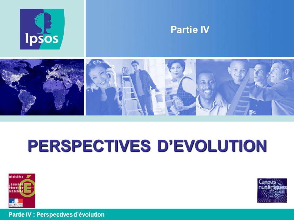 PERSPECTIVES DEVOLUTION Partie IV Partie IV : Perspectives dévolution