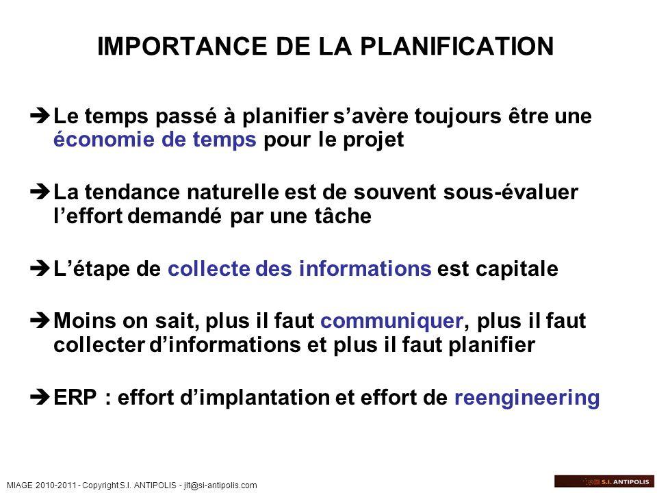 MIAGE 2010-2011 - Copyright S.I. ANTIPOLIS - jlt@si-antipolis.com Fondations – Les 12 Phases