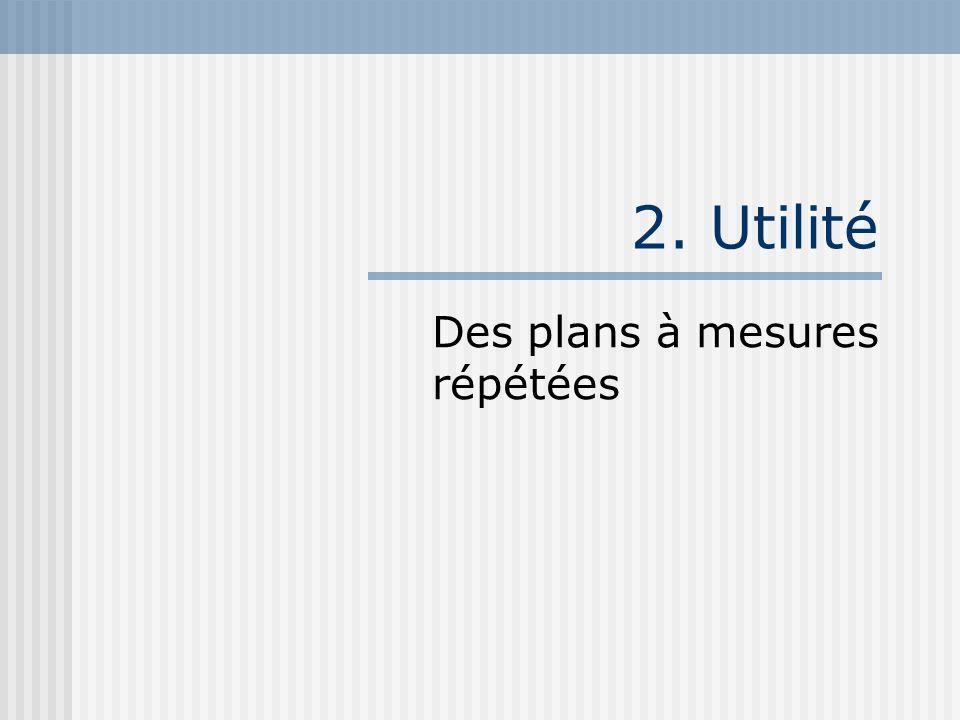 2. Utilité Des plans à mesures répétées