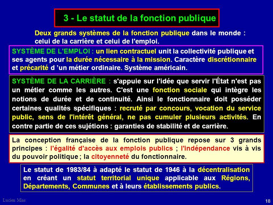 17 Lucien Mias 2 - Administration et contraintes de gestion. Gestion budgétaire : fondée sur des objectifs de rigueur et cohérence.