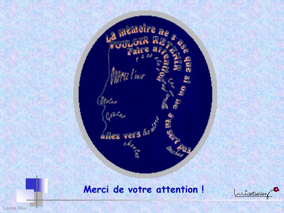 22 Lucien Mias 7 - Les 4 règles d or pour réussir le changement culturel 1) L'ouverture d'esprit. - Impulser une stratégie novatrice par l'exemple. -