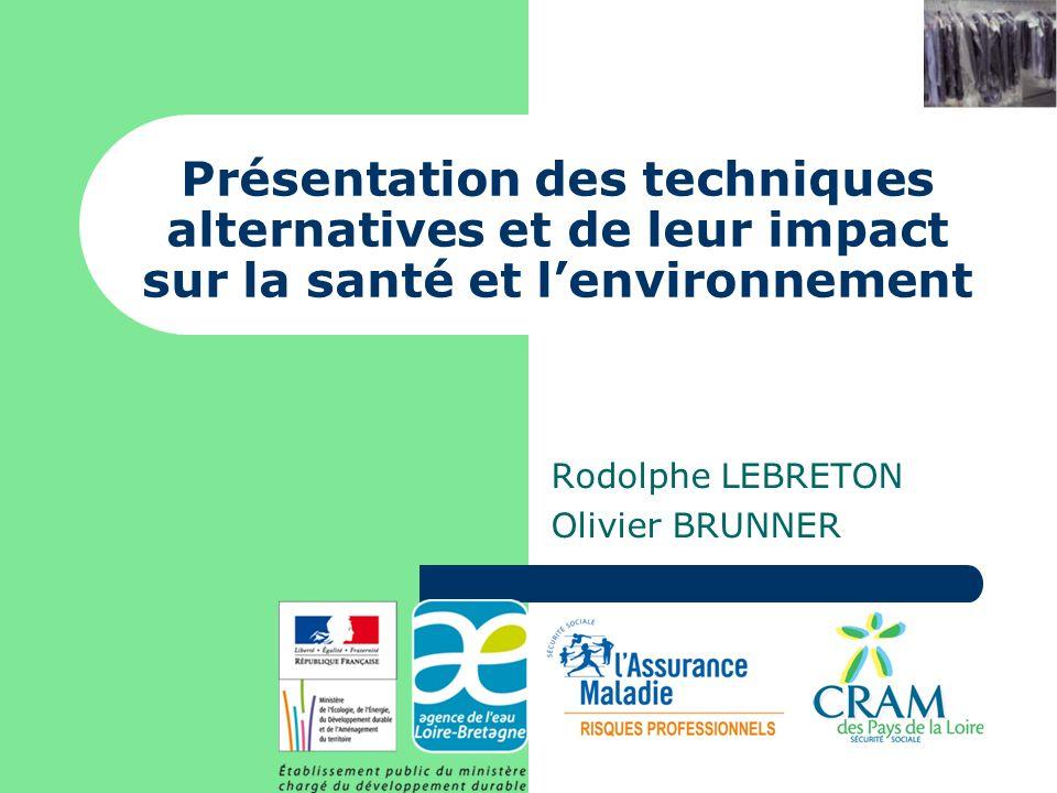 Présentation des techniques alternatives et de leur impact sur la santé et lenvironnement Rodolphe LEBRETON Olivier BRUNNER
