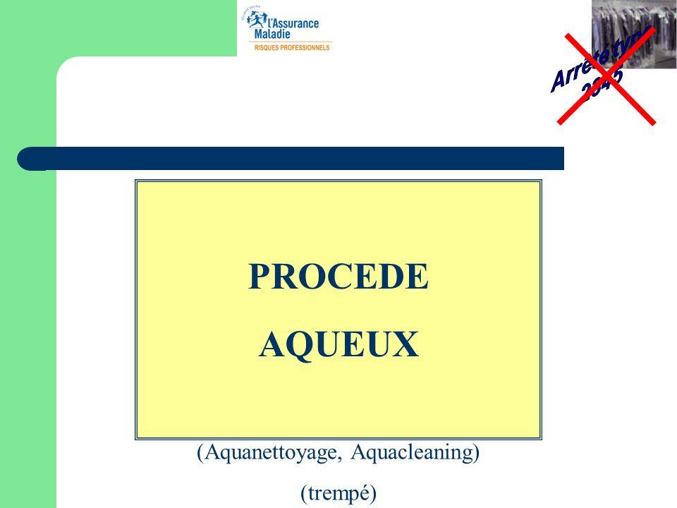 PROCEDE AQUEUX (Aquanettoyage, Aquacleaning) (trempé)