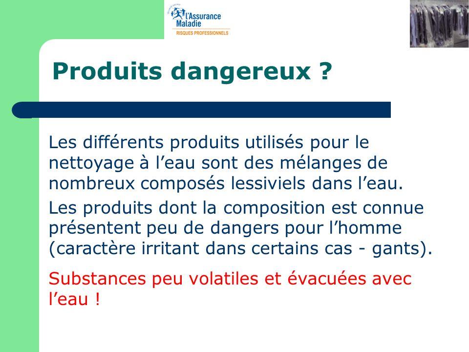 Les différents produits utilisés pour le nettoyage à leau sont des mélanges de nombreux composés lessiviels dans leau. Les produits dont la compositio
