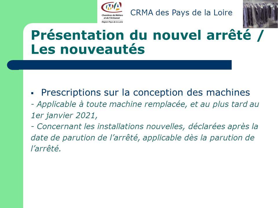 Diagnostic Environnement « secteur des Pressing » Christophe TERRIEN – CMA 44