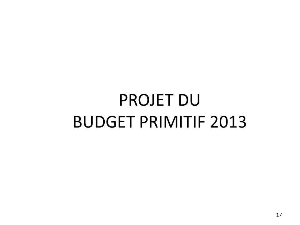 PROJET DU BUDGET PRIMITIF 2013 17