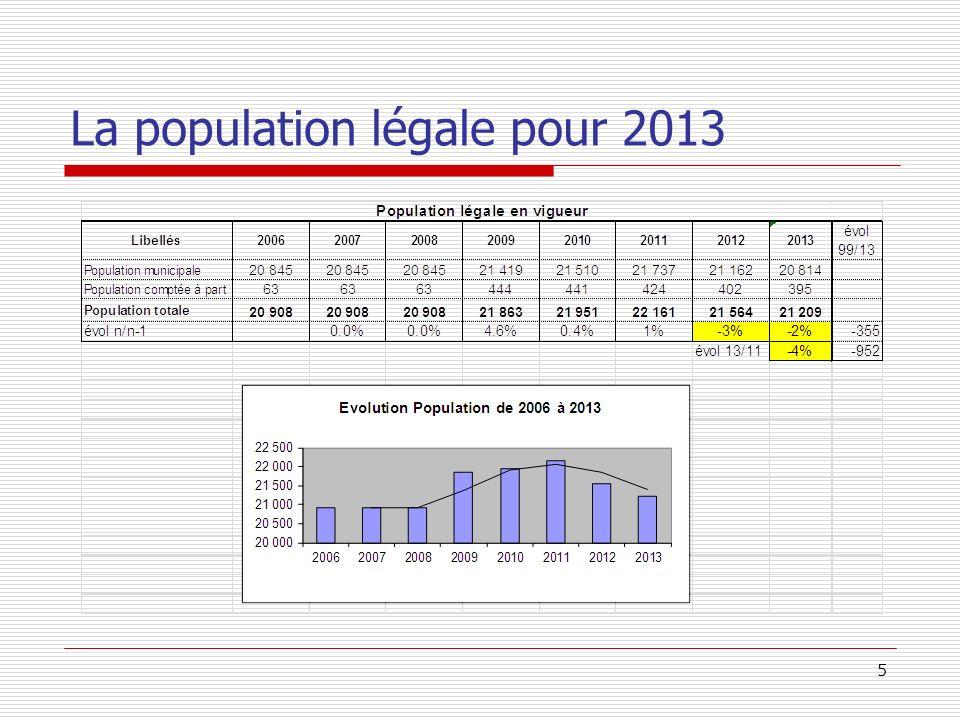 La population légale pour 2013 5