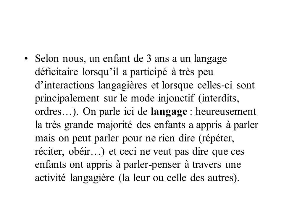 III- À propos des bilinguismes Pour lenfant, lacquisition dune seconde langue peut sopérer dans son pays dorigine mais de manière strictement scolaire (= bilinguisme scolaire).