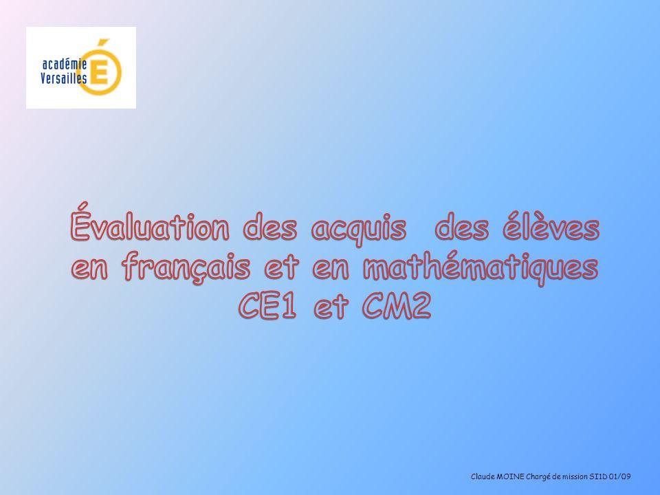 Claude MOINE Chargé de mission SI1D 01/09
