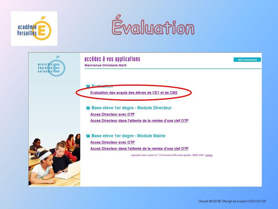 Synthèse école Claude MOINE Chargé de mission SI1D 01/09 La médiane est le nombre dItems réussis qui partagent la population des élèves en deux effectifs égaux.