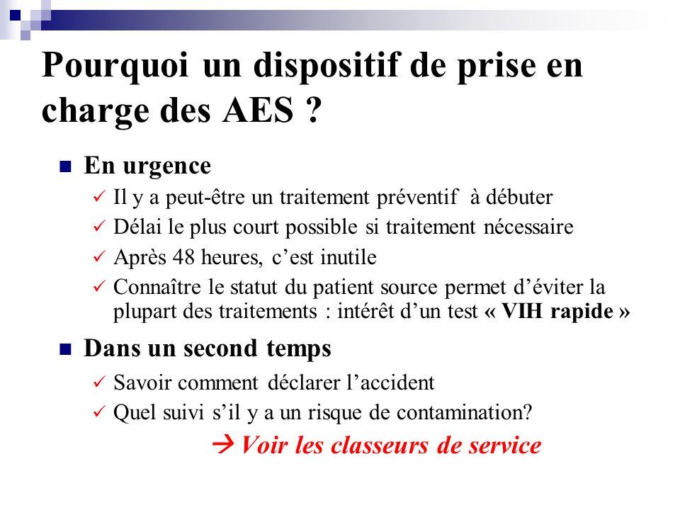 Pourquoi un dispositif de prise en charge des AES .