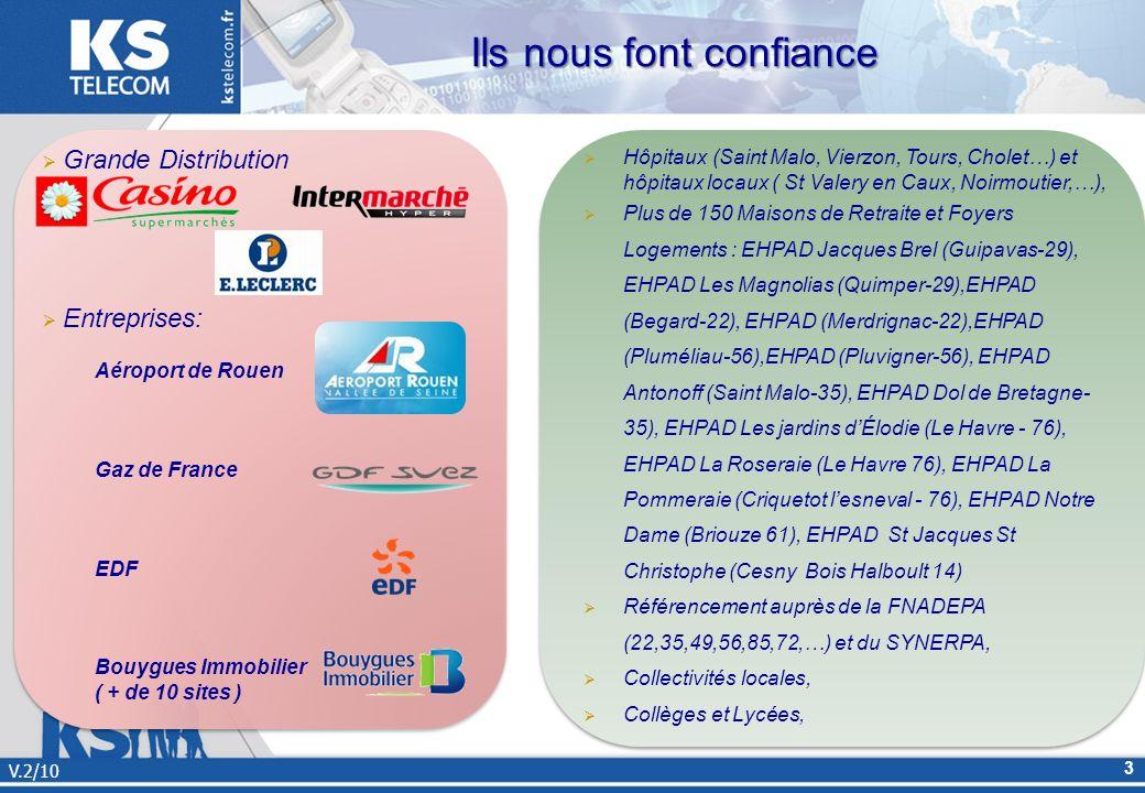 Ils nous font confiance V.2/10 3 Hôpitaux (Saint Malo, Vierzon, Tours, Cholet…) et hôpitaux locaux ( St Valery en Caux, Noirmoutier,…), Plus de 150 Ma