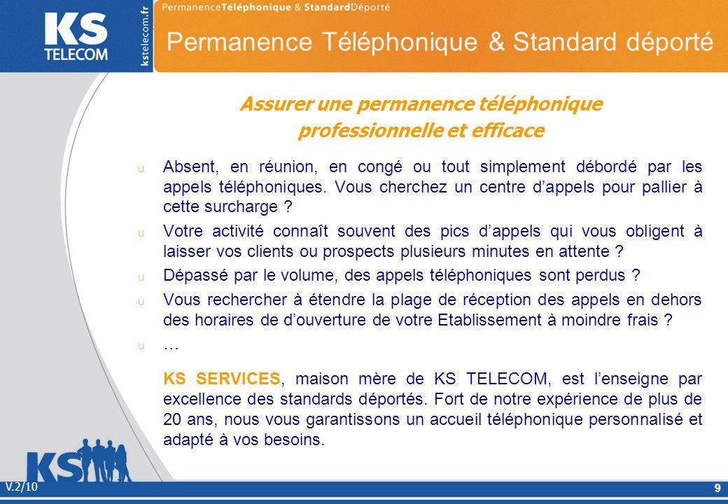 Assurer une permanence téléphonique professionnelle et efficace Absent, en réunion, en congé ou tout simplement débordé par les appels téléphoniques.