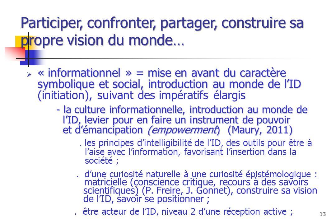 « informationnel » = mise en avant du caractère symbolique et social, introduction au monde de lID « informationnel » = mise en avant du caractère sym