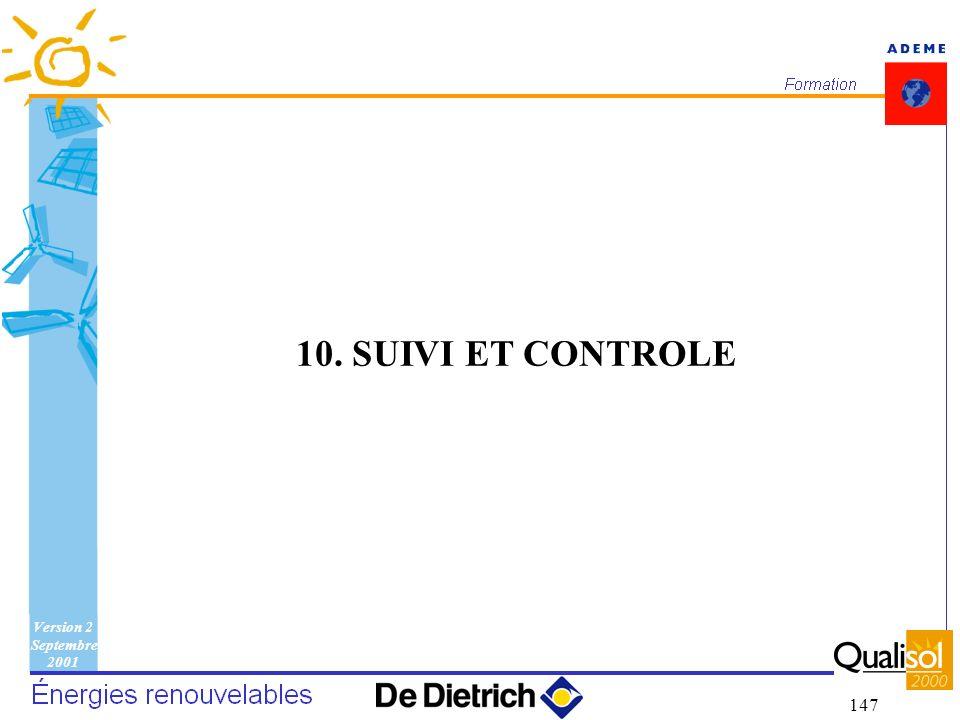 Version 2 Septembre 2001 147 10. SUIVI ET CONTROLE