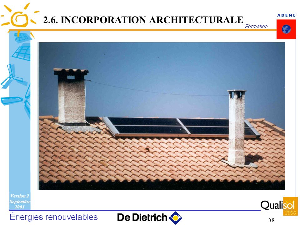 Version 2 Septembre 2001 38 2.6. INCORPORATION ARCHITECTURALE