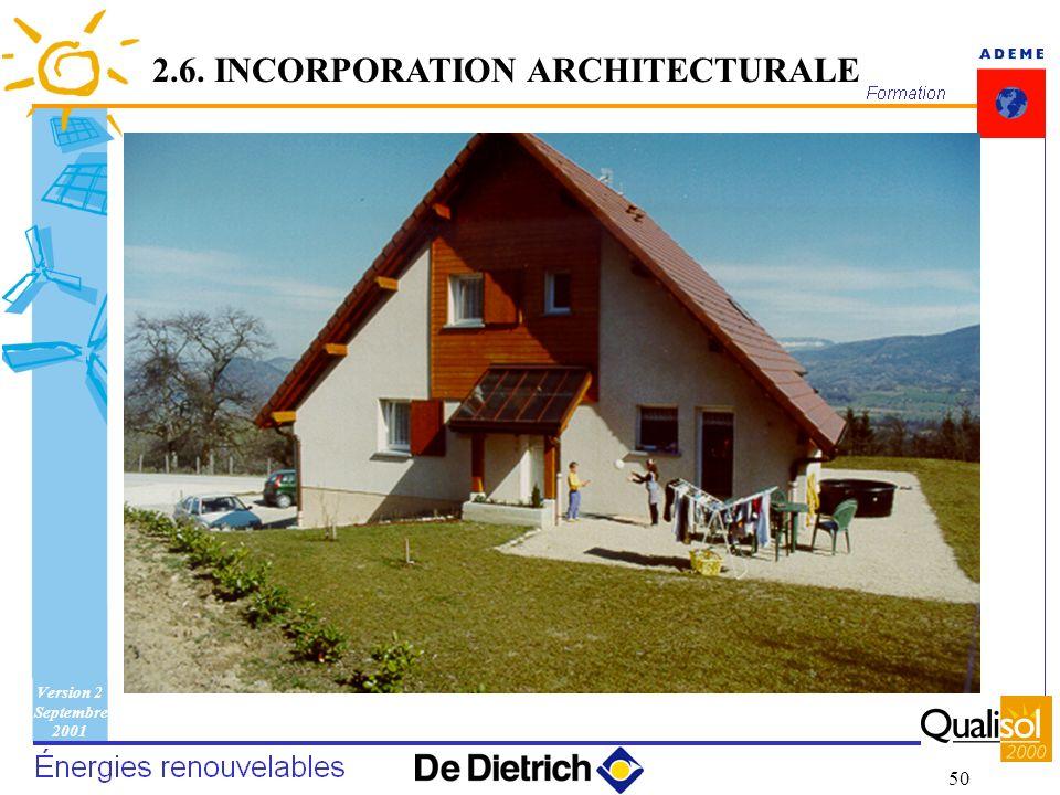 Version 2 Septembre 2001 50 2.6. INCORPORATION ARCHITECTURALE