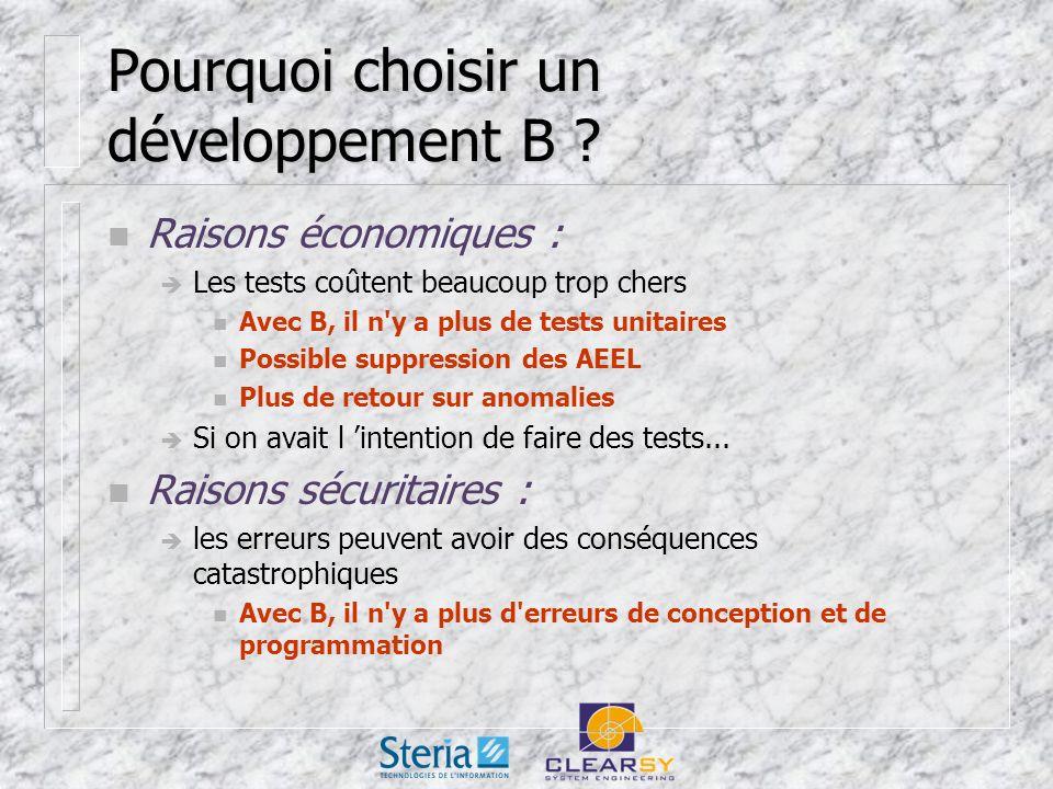 Pourquoi choisir un développement B .
