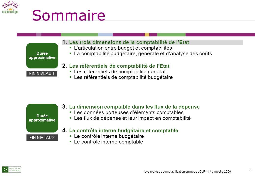 2 Les règles de comptabilisation en mode LOLF – 1 er trimestre 2009 Objectifs et enjeux de la formation Objectifs de la formation : maîtriser les conc