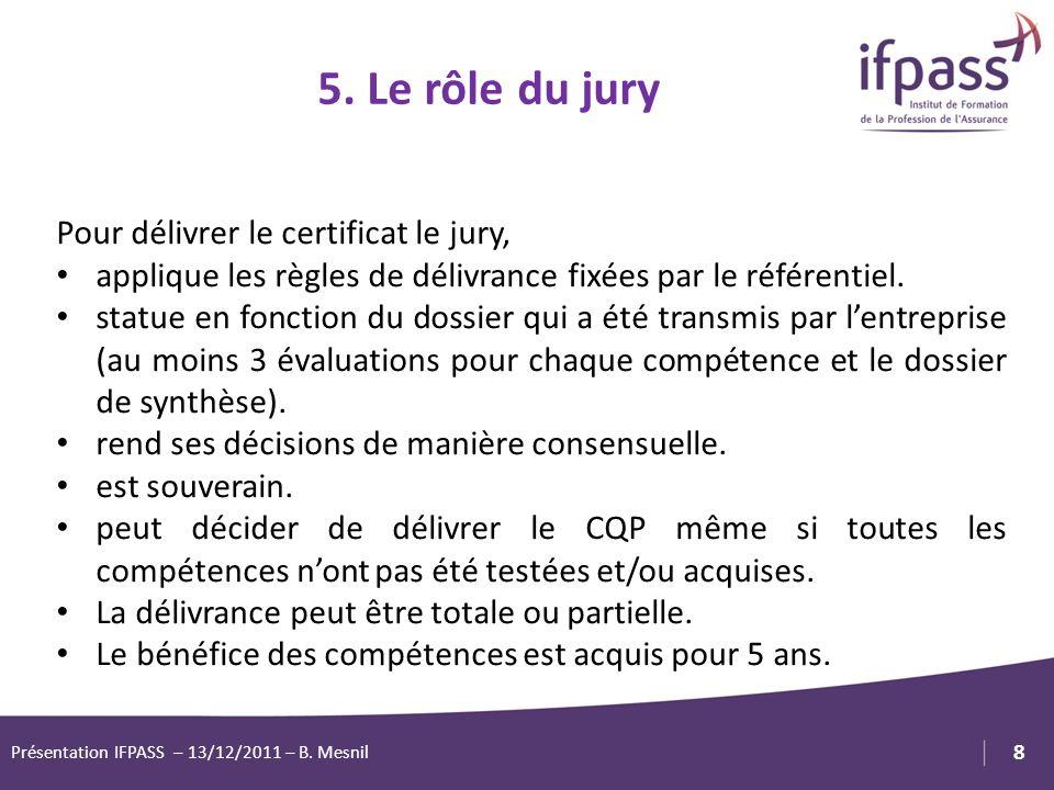 1 8 Logo Client ou Partenaire Pour délivrer le certificat le jury, applique les règles de délivrance fixées par le référentiel. statue en fonction du
