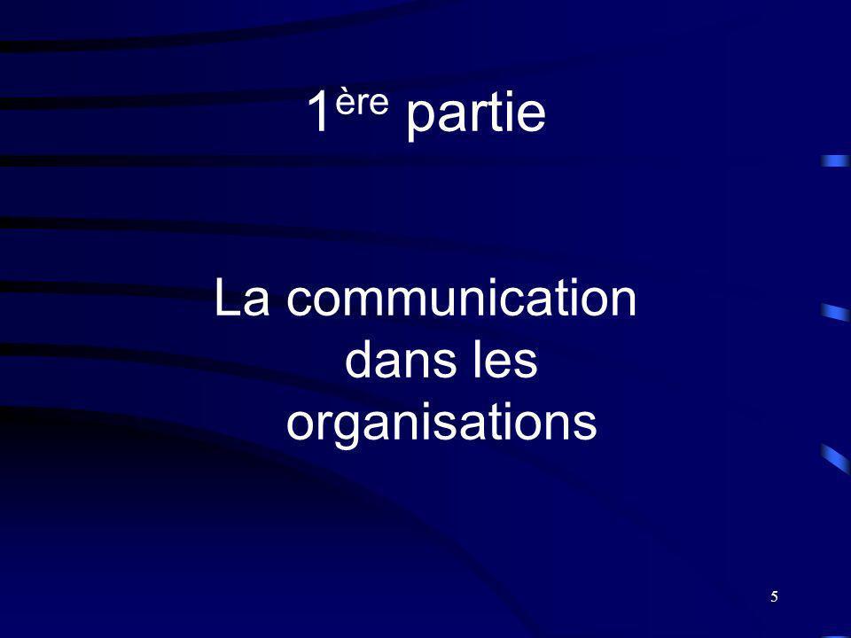 5 1 ère partie La communication dans les organisations