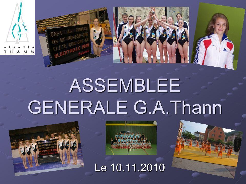 ASSEMBLEE GENERALE G.A.Thann Le 10.11.2010