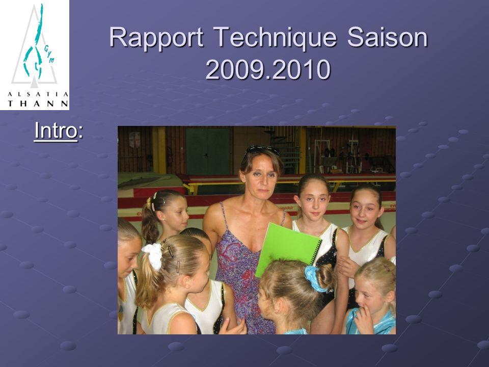 Rapport Technique Saison 2009.2010 Intro: