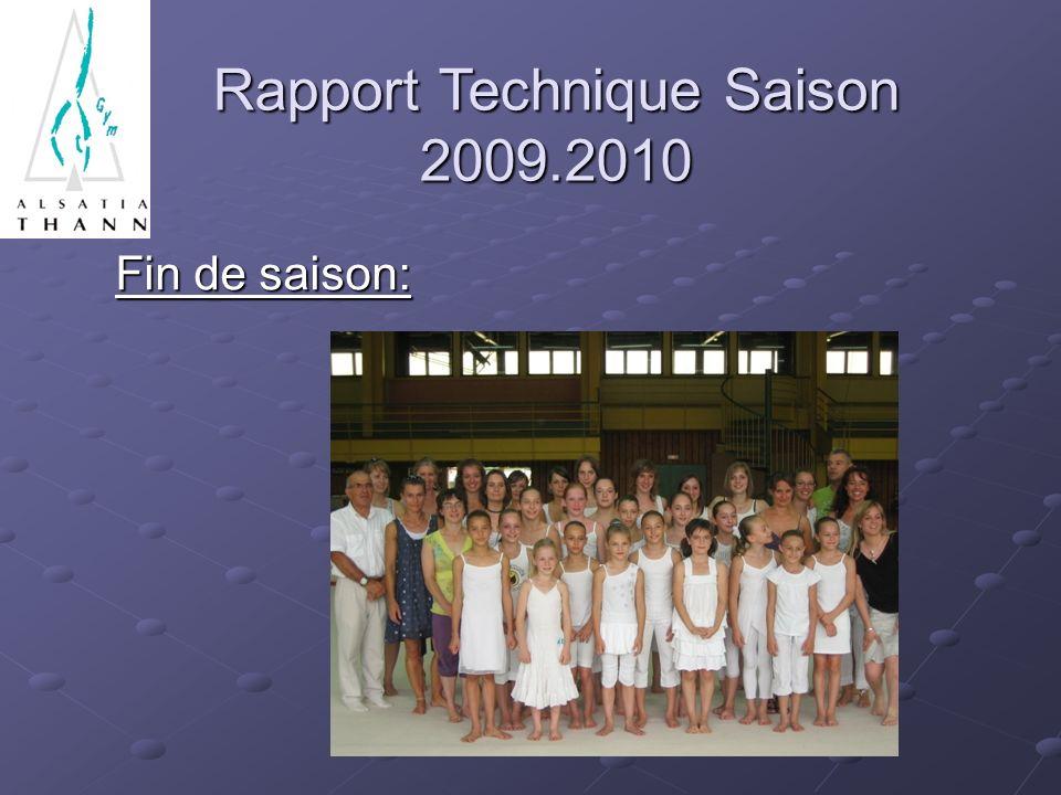 Fin de saison: Rapport Technique Saison 2009.2010