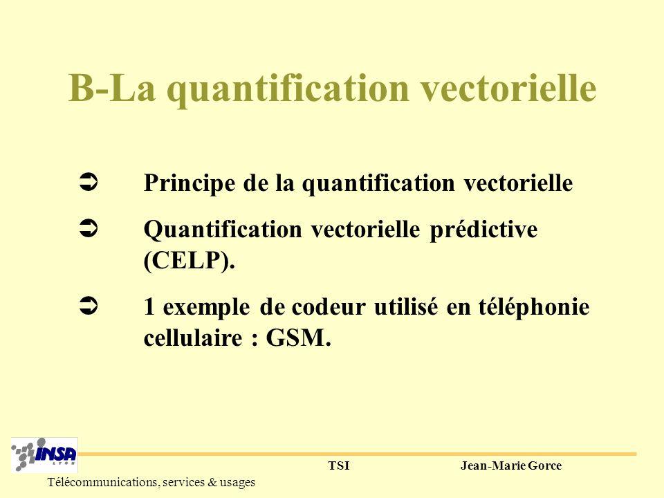 TSIJean-Marie Gorce Télécommunications, services & usages 4) En résumé système PCM : fe=8kHz, 8pts/ech.