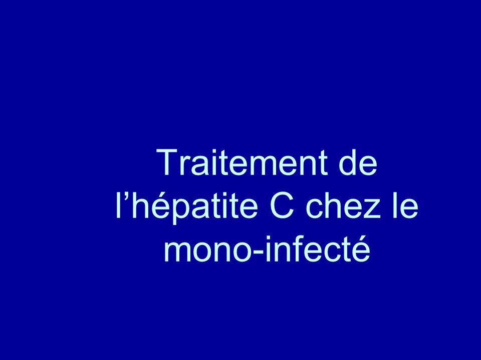 Traitement de lhépatite C chez le mono-infecté