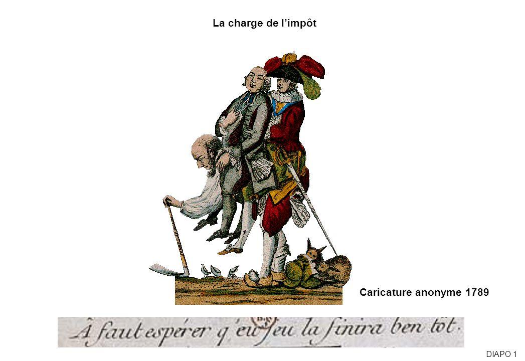Caricature anonyme 1789 La charge de limpôt DIAPO 1