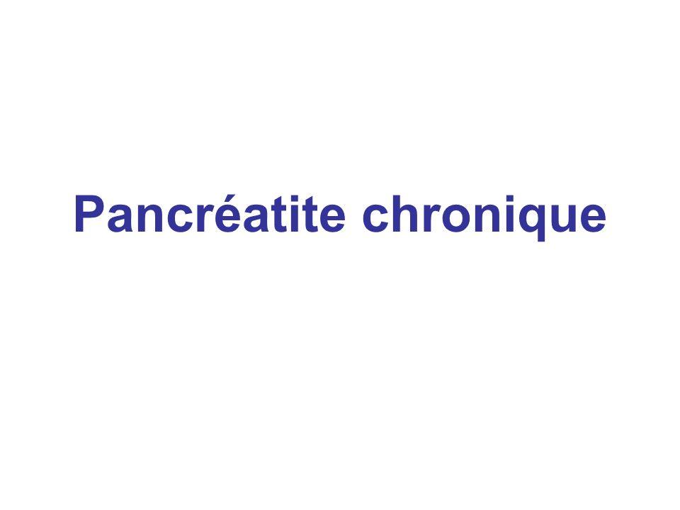 Pancréatite chronique
