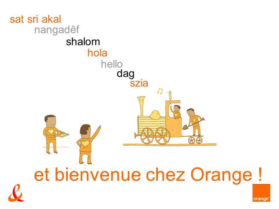 et bienvenue chez Orange ! szia dag hello hola shalom nangadêf sat sri akal
