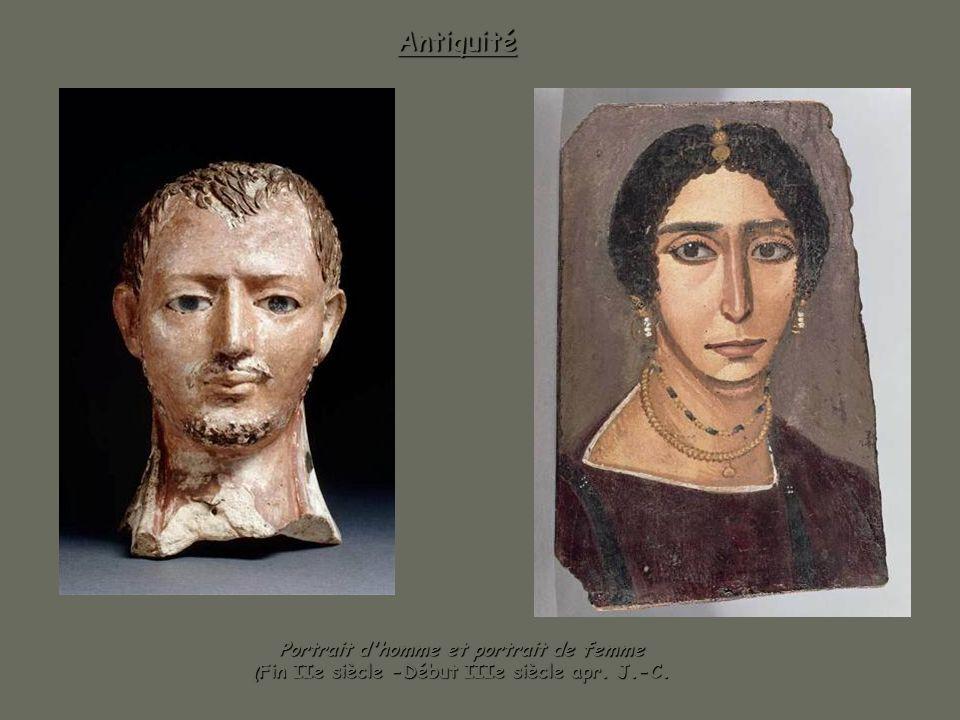 Portrait d'homme et portrait de femme (Fin IIe siècle -Début IIIe siècle apr. J.-C. Antiquité